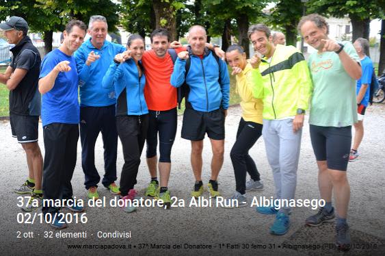 37 marcia del donatore, 2 albi run - Albignasego