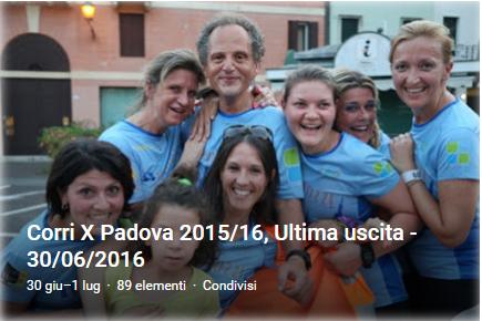 CorriXPadova 2015/16 - Ultima uscita - 30/06/2016