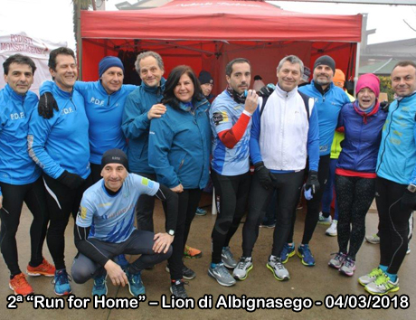 "2ª ""Run for Home"" – Lion di Albignasego - 04/03/2018"