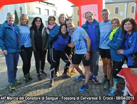 44ª Marcia del Donatore di Sangue – Fossona di Cervarese S. Croce - 08/04/2018