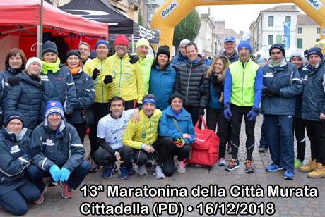 13ª Maratonina della Città Murata • Cittadella (PD) • 16/12/2018